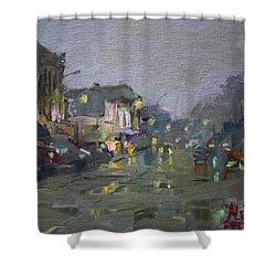 Evening Rain At Webster St Shower Curtain