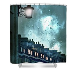 Shower Curtain featuring the photograph Evening Rainstorm In The City by Jill Battaglia
