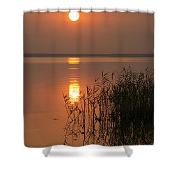 Shower Curtain featuring the photograph Evening Reflections by Inge Riis McDonald