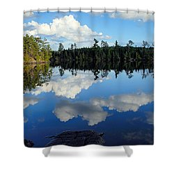 Evening Reflections On Spoon Lake Shower Curtain