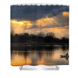 Evening Relaxation Shower Curtain