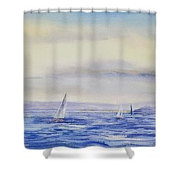 Evening Sail On Little Narragansett Bay Shower Curtain