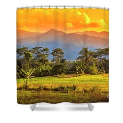 Shower Curtain featuring the photograph Evening Scene by Charuhas Images