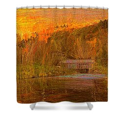 Evening Shadows II Shower Curtain by John Selmer Sr