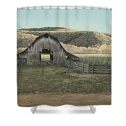 Evening Shadows In Boxley Valley Shower Curtain by Mary Ann King