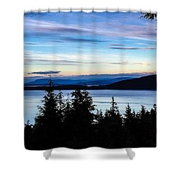 Evening Sky Shower Curtain by William Wyckoff