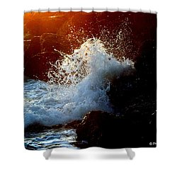 Evening Splash Shower Curtain