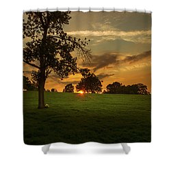 Evening Sun Over Brockwell Park Shower Curtain