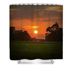 Evening Sun Over Picnic Shower Curtain