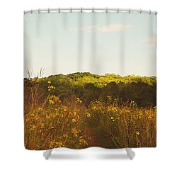 Shower Curtain featuring the photograph Evening Sunset Glow by Nikki McInnes
