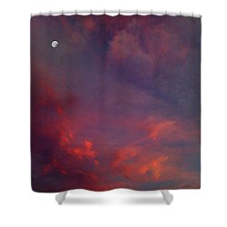 Evening Sunset Paints The Sky Shower Curtain