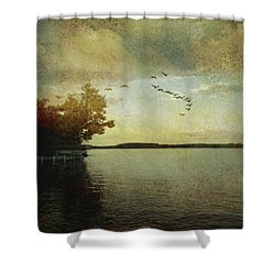 Evening, The Lake Shower Curtain