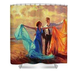 Evening Waltz Shower Curtain