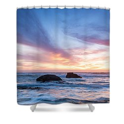 Evening Waves Shower Curtain