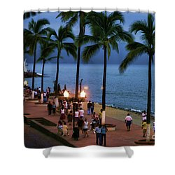 Evenings On The Malecon Shower Curtain