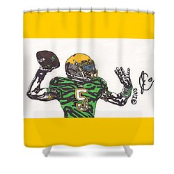 Everett Golson 1 Shower Curtain by Jeremiah Colley