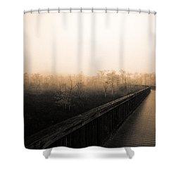 Everglades Boardwalk Shower Curtain