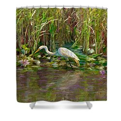 Everglades Hunter Shower Curtain