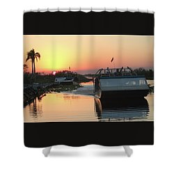 Everglades Sunset Shower Curtain
