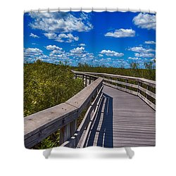 Everglades Trail Shower Curtain by Swank Photography