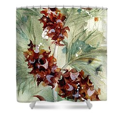 Shower Curtain featuring the painting Evergreen Branch by Dawn Derman