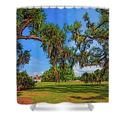 Evergreen Plantation Shower Curtain by Steve Harrington