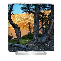 Everson Lake 2 Shower Curtain by Leland D Howard