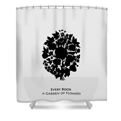 Every Book A Garden Shower Curtain by Asok Mukhopadhyay