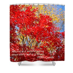 Every Leaf Is A Flower Shower Curtain