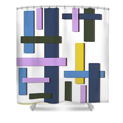 Shower Curtain featuring the digital art Every Which Way by Karen Nicholson