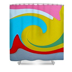 Everybody Has A Cousin In Miami Two Shower Curtain by Dick Sauer