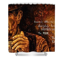 Shower Curtain featuring the painting Everybody Knows by Igor Postash