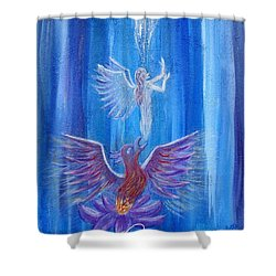 Everything In Due Time Shower Curtain by The Art With A Heart By Charlotte Phillips