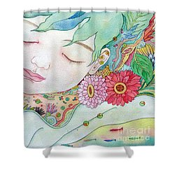 Everything Is A Child Of The Earth Shower Curtain
