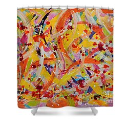 Everywhere There Are Fish Shower Curtain