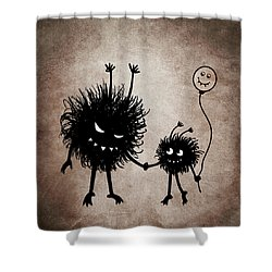 Evil Bug Mother And Child Shower Curtain