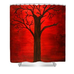 Evil Tree Shower Curtain