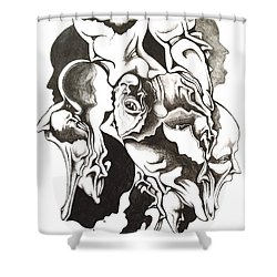 Evolution In Mind  Shower Curtain by Michael  TMAD Finney