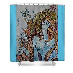 Evolve Shower Curtain by Claudia Cole Meek