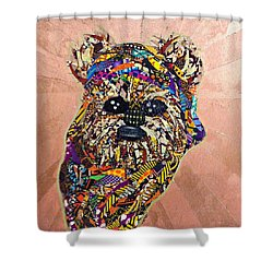 Ewok Star Wars Afrofuturist Collection Shower Curtain