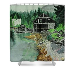 Ex-cannery Shower Curtain
