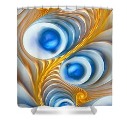 Shower Curtain featuring the digital art Exaggeration by Anastasiya Malakhova