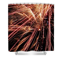 Shower Curtain featuring the photograph Exciting Fireworks #0734 by Barbara Tristan