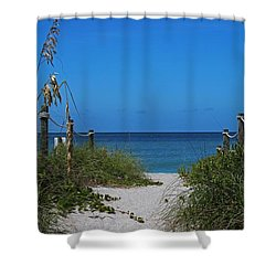 Shower Curtain featuring the photograph Exclusively Captiva by Michiale Schneider