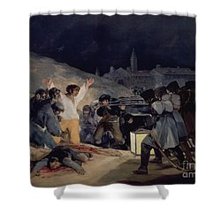 Execution Of The Defenders Of Madrid Shower Curtain by Goya