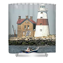 Execution Rocks Lighthouse Shower Curtain
