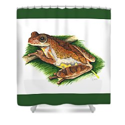 Executioner Treefrog Shower Curtain by Cindy Hitchcock