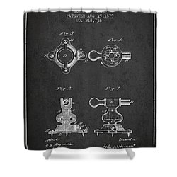 Exercise Machine Patent From 1879 - Charcoal Shower Curtain