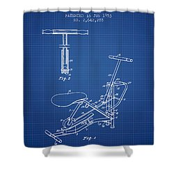 Exercise Machine Patent From 1953 - Blueprint Shower Curtain