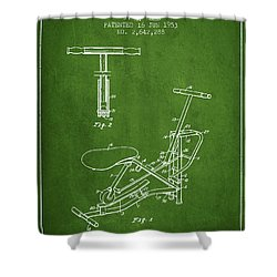 Exercise Machine Patent From 1953 - Green Shower Curtain